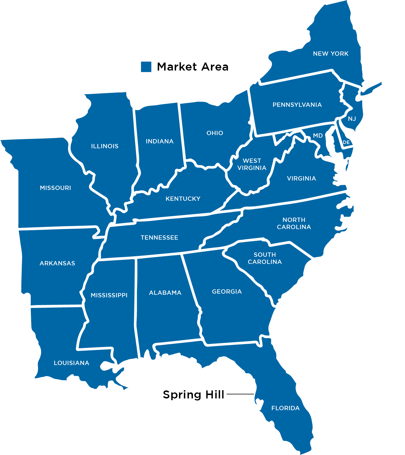 Map of Marlin Gas Markets